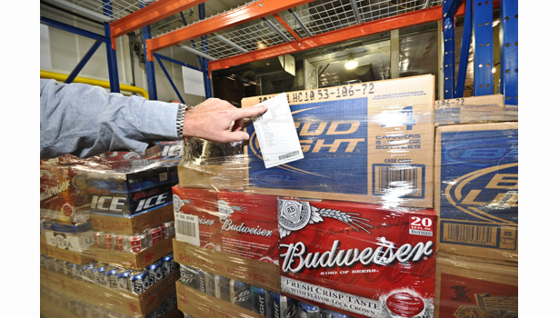 warehouse management system assigns a ticket to all picked orders