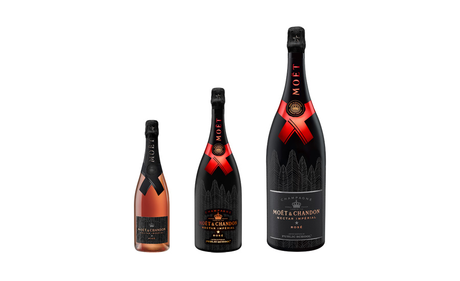 Limited-Edition Moët Nectar Impérial Rosé bottle