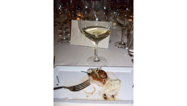 Newton Unfiltered 2011 Chardonnay with Sea Scallops