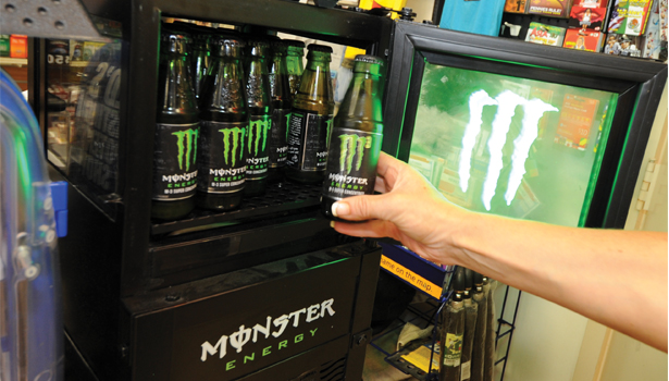 Display of Monster at a Shell Station