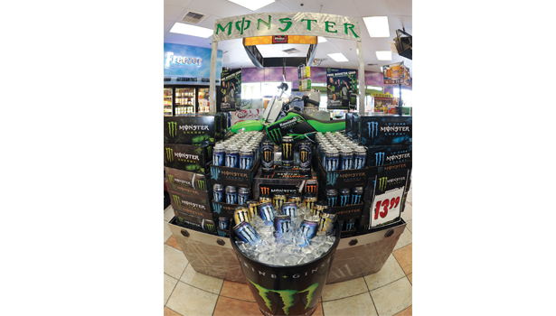Monster Display at Shell Station