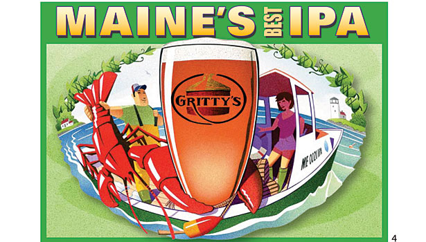 Maine's best IPA six pack design