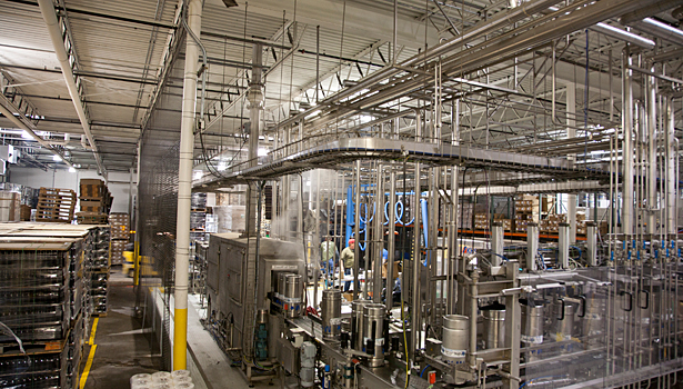 The brewery's current packaging line fills 240 bottles a minute