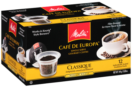 Melitta Cafe de Europa Single Serve Gourmet Coffee