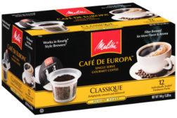 Melitta Cafe de Europa Single Serve Gourmet Coffee