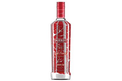 Smirnoff No. 21 holiday bottle