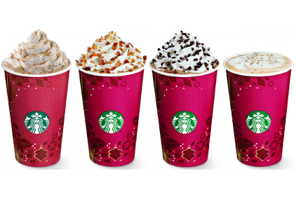 Starbucks holiday coffees