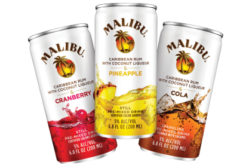 Malibu pre-mixed drinks