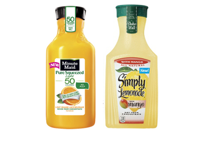 Minute Maid and Simply certified kosher juices