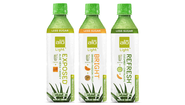 Alo Drink's Alo Light line