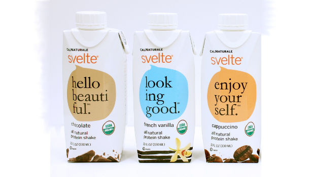 California Natural Products' CalNaturale Svelte non-dairy protein shakes