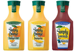 Simply Orange and Simply Lemonade blends