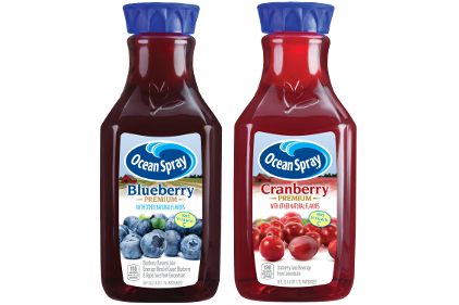 Ocean Spray Premium Cranberry and Blueberry juices