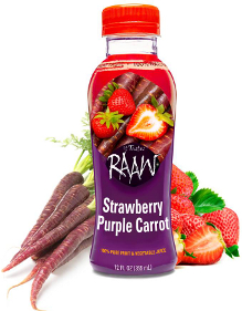 Raaw Strawberry Purple Carrot juice