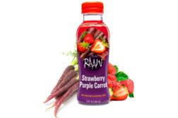 Raaw Strawberry Purple Carrot juice