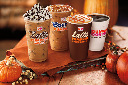 Dunkin' Donuts seasonal drinks