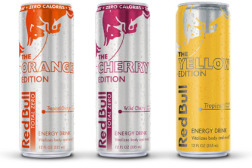 Red Bull Yellow, Orange and Cherry Editions