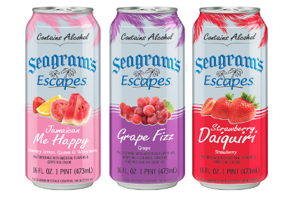 Seagram's Escapes cans