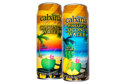Natural Cabana Coconut Water and Pineapple Coconut Water