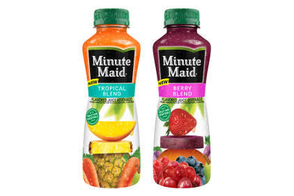 Minute Maid Tropical Blend and Berry Blend