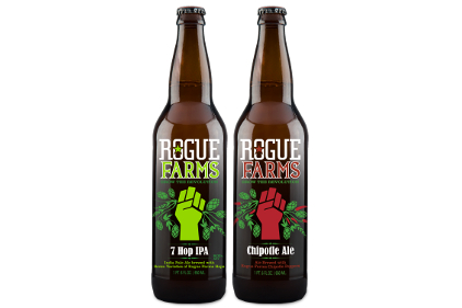 Rogue Farms 7 Hop IPA and Chipotle Ale