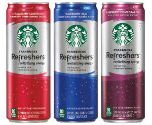 Starbucks Refreshers reformulation and packaging