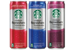 Starbucks Refreshers reformulation and packaging