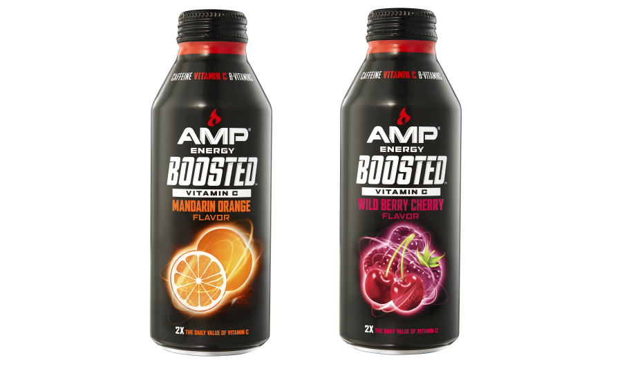 Amp Energy Boosted Mandarin Orange And Boosted Wild Berry
