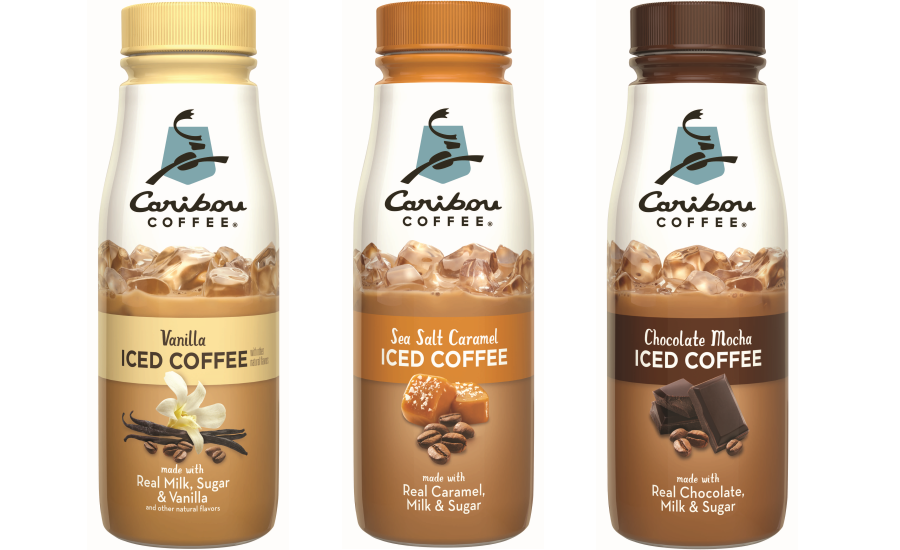 Caribou iced coffees