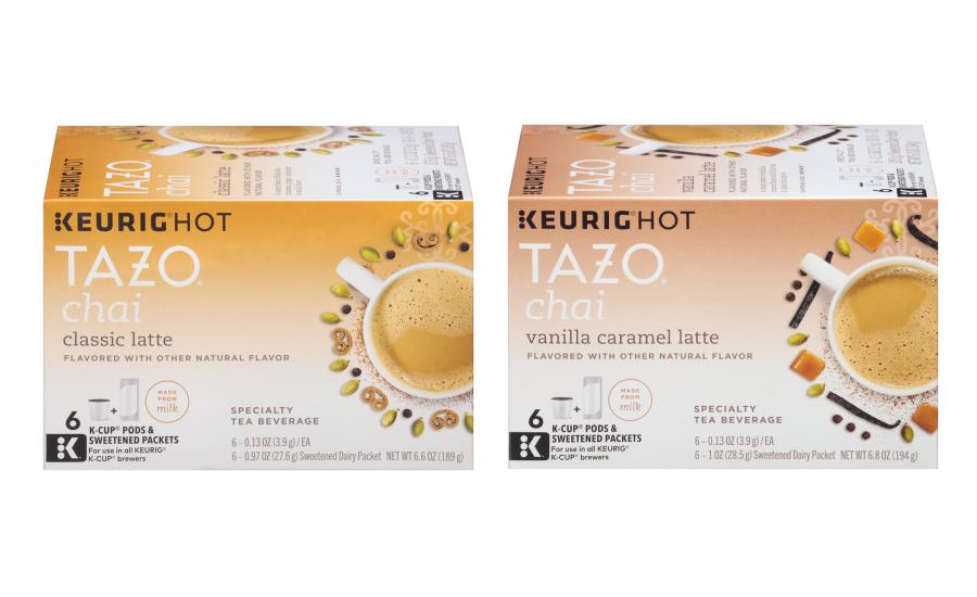 Tazo Classic Chai Latte And Chai Vanilla Caramel Latte K Cup