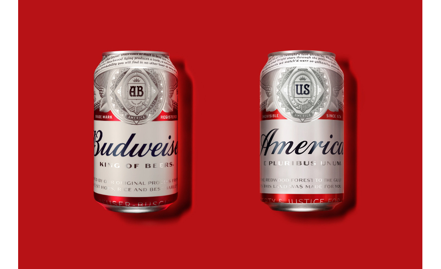 Budweiser America packaging