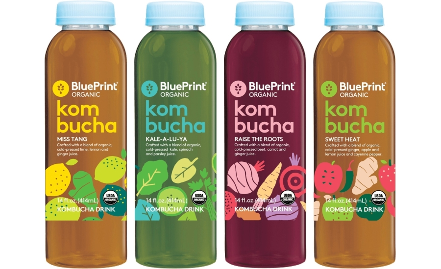 Blueprint launches kombucha drink line in whole foods sprouts line combines organic juice with fermented tea malvernweather Choice Image
