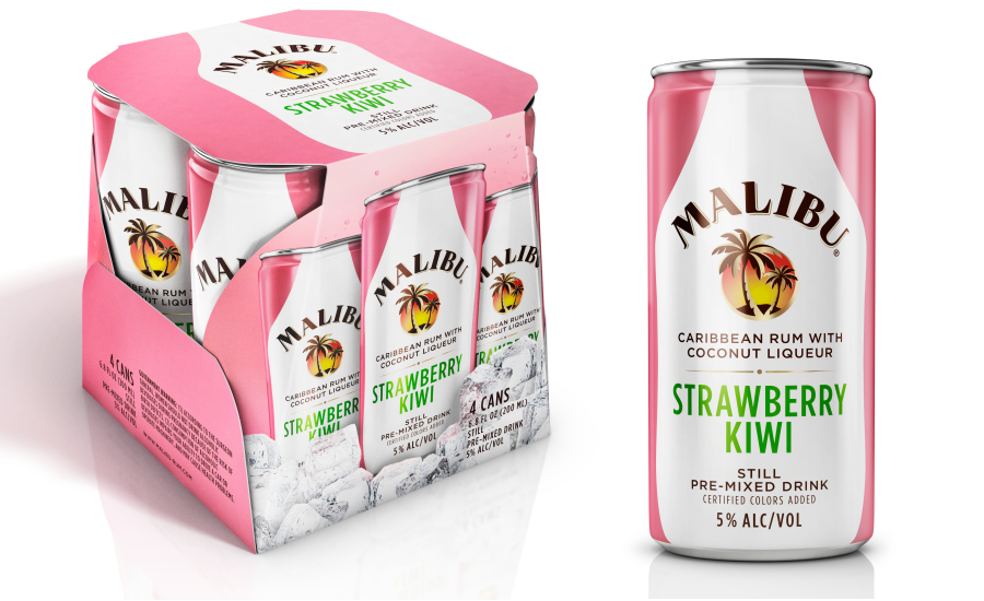 Malibu Strawberry Kiwi Cans
