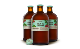 Brew Dr. Strawberry Basil Kombucha