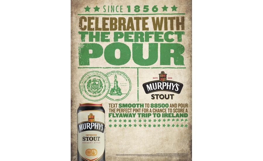 Murphy's Stout celebrates St  Patrick's Day with sweepstakes