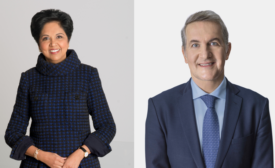 Indra Nooyi and Ramon Laguarta