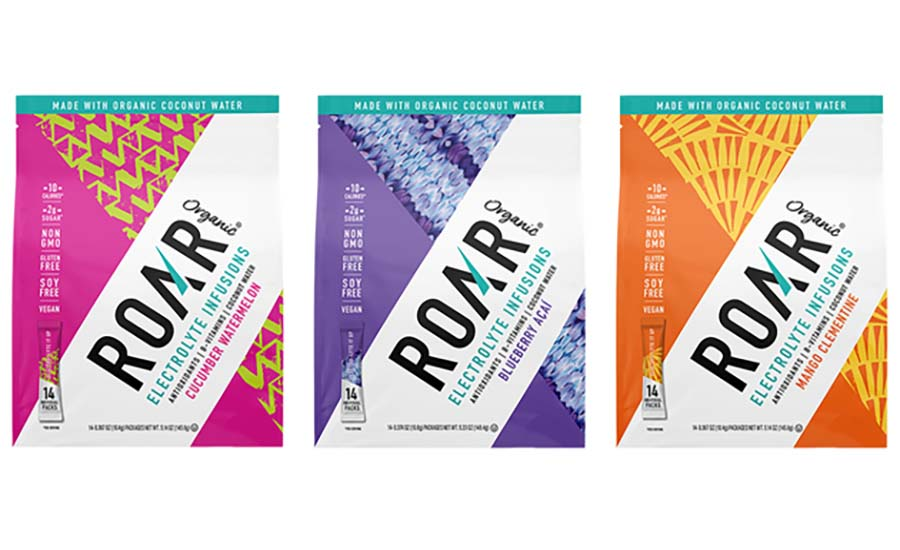 ROAR Organic Electrolyte Powder Sticks in 3 flavors