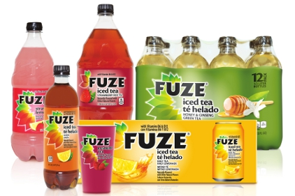 Fuze teas and juice drinks