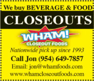 WHAM! Closeout Foods