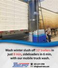 Wash winter slush off