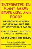 Interested In Plant Based Beverages and Food?