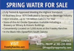 Spring Water For Sale