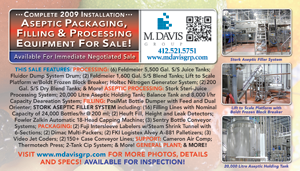 Aseptic Packaging, Filling & Processing Equipment For Sale!