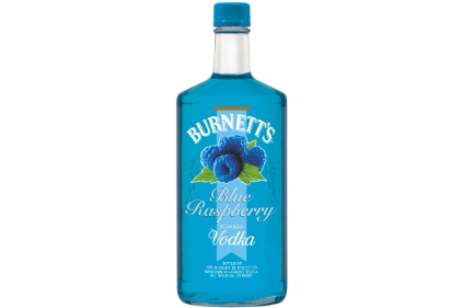 Burnett's Blue Raspberry flavored vodka