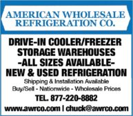 American Wholesale Refrigeration Co.