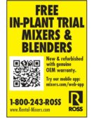 Ross Free In-Plant Trial- Mixers & Blenders