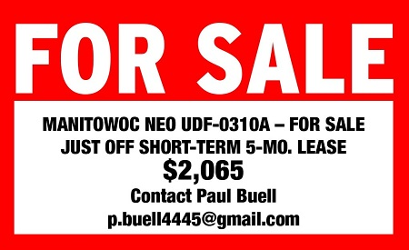 FOR SALE: MANITOWOC NEO UDF-0130A