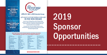 2019 Beverage Forum Sponsorship Opportunities