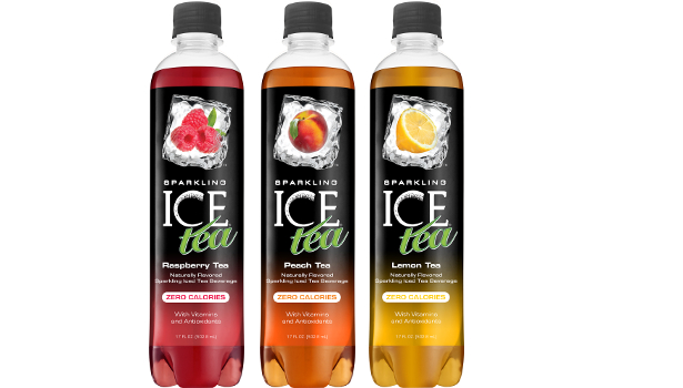 Sparkling Ice Teas three bottles