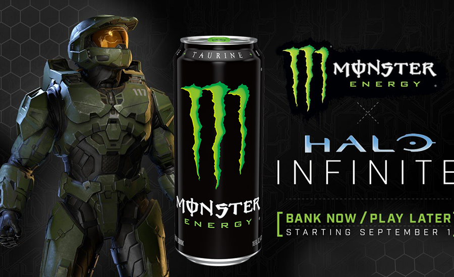 Monster Energy Halo gamified can